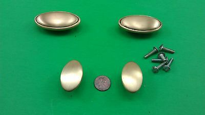 2 Large And 2 Small Antique Vintage Bronze Oval Dresser Handles