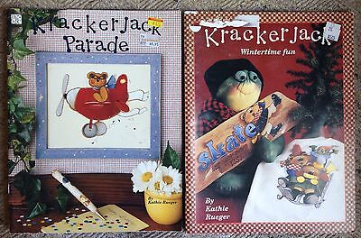 Lot 2 Country Folk Art Tole Decorative Painting Books Patterns Kathie Rueger