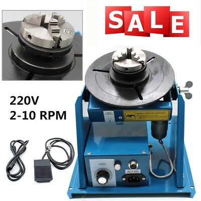 """Mini Rotary Welding Positioner Turntable Table 2.5"""" 3 Jaw Lathe Chuck Video AU"""