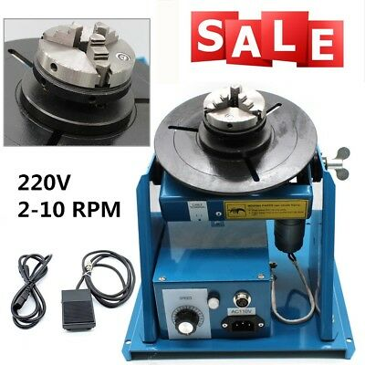 NEW 2-10 RPM Rotary Welding Positioner Turntable Table 3 Jaw Lathe Chuck DHL