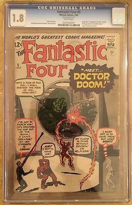 Fantastic Four (1st Series) #5 1962 CGC 1.8 -- First Doctor Doom