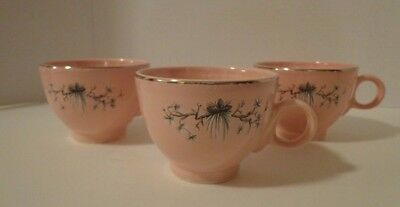 3 Coffee Cups Mugs TST Dwarf Pine Taylor Smith Taylor Retro Pink Pine Trees