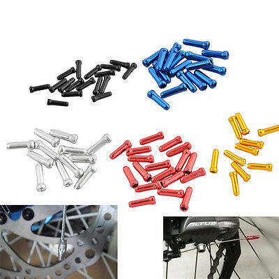 50pcs Aluminum Bike Bicycle Brake Shifter Inner Cable Tips Wire End Cap Crimp BD