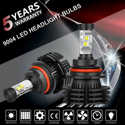 2x 9004 HB1 CREE 1300W 195000LM LED Headlight Hi-Lo Beam Bulbs Replace XENON HID