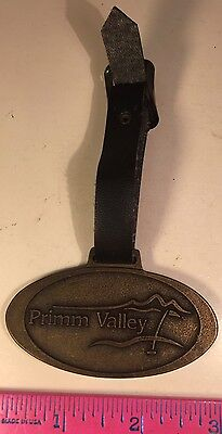 Vintage Primm Valley Golf Course Las Vegas Nevada Brass Key Bob Bag Pendant