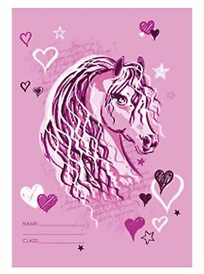 Spencil Scrap Book Covers Pink Horse-Pack of 6