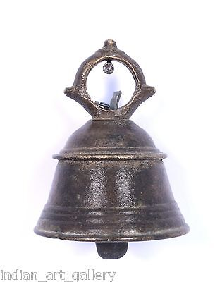 Antique Authentic Indian Handcrafted High Aged Bronze Temple Bell. i9-20