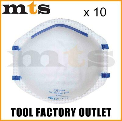 10 X Portwest P200 Ffp2 Respirator Dust Mask Protects Against Fine Toxic Dusts