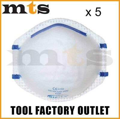 5 X Portwest P200 Ffp2 Respirator Dust Mask Protects Against Fine Toxic Dusts