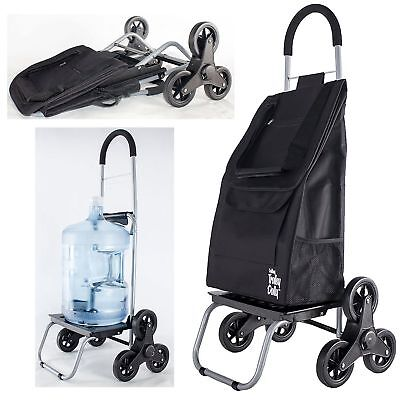 Trolley Dolly Stair Climber Grocery Foldable Cart Lightweight Tri-wheel Designed