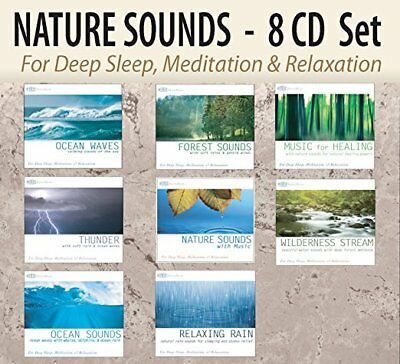 8 CD NATURE SOUNDS Set: Ocean Waves, Forest Sounds, Thunder, Rain NEW UNOPENED!