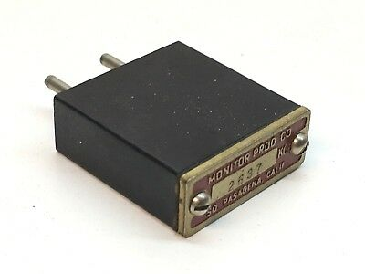 Monitor Products Frequency 2637 KC Radio Crystal Unit 2-Pin