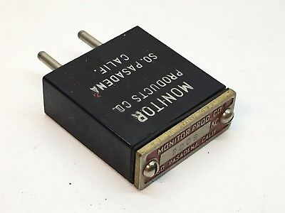 Monitor Products Frequency 2009 KC Radio Crystal Unit 2-Pin