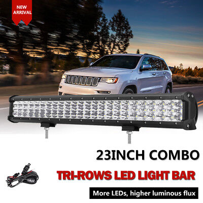 "23INCH 1008W PHILIPS Spot&Flood LED Work Light Bar Offroad 4X4 4WD Truck 20""/28"""