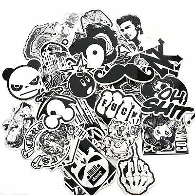 60pcs Stickers Vinyl Skateboard Guitar Travel Case Sticker Pack Decals Cool