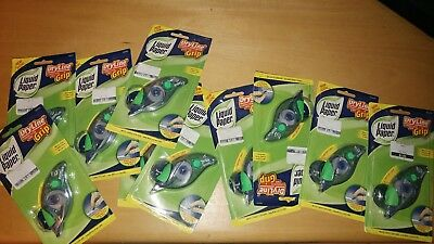 Lot of 10! Liquid Paper DryLine Grip Correction Tape 06604. NEW. Super strong!