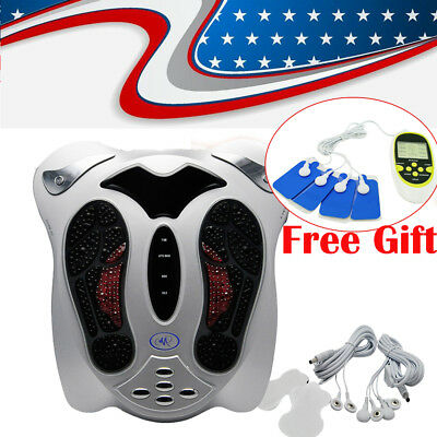 Medical Circulation Blood Booster Electromagnetic Foot Massager Infrared W/pads