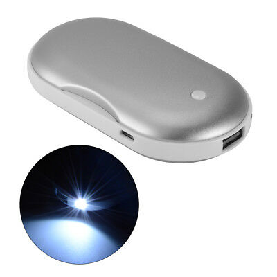 5000mAh Hand Warmer USB Charger Electric Pocket Rechargeable Power Bank MT552