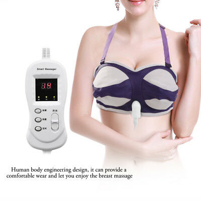 Electric Breast Enhancer Vibrating Massager Bra Breast Enlarger Growth Beauty OB