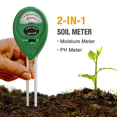 Soil Meter w Moisture & pH Test Function Accurate Plant Tester for Garden Lawn