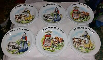 Plates Creation Decors de Paris LES FROMAGES DE LA FERME  x 6 vintage?
