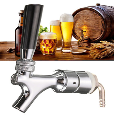 """Beer Tap Faucet Draft Shank With Elbow 1- 2/5"""" X 3/16"""" Brass Tube For Kegerator"""