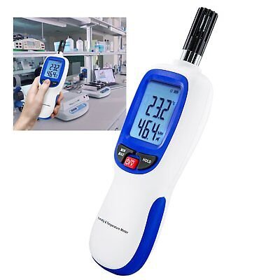Digital Humidity & Temperature Meter Hygrometer Psychrometer Dew Point Wet-bulb