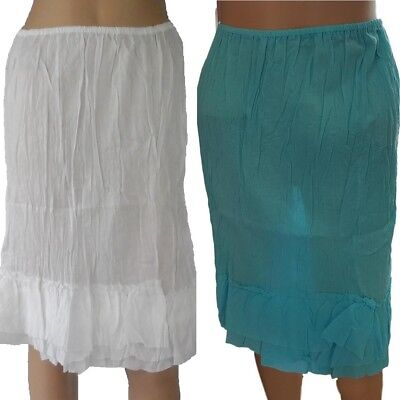HALF SLIP only $20 NEW 100% COTTON Crinkle Skirt Womens Size 12 14 16 18 20