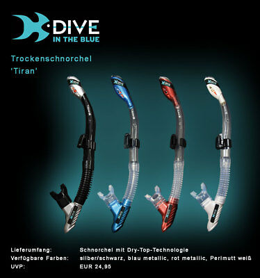 Trockenschnorchel Dry Top Schnorchel 'Tiran' by Dive in the Blue