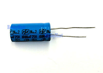 25V 1000UF Horizontal electrolytic capacitors x 2 pcs