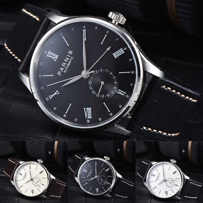 42mm Parnis ST Automatic Mechanical men's Boys Wrist Watch Date Indicator