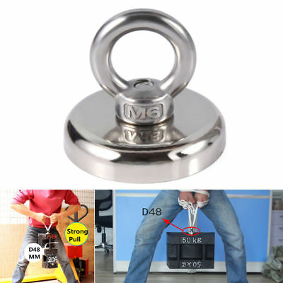 20//32//39//63kg Strong Power Round Neodymium Magnets Fishing Lifting Rescue Tool
