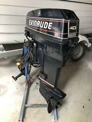 40 Hp Johnson / Evinrude Outboard Motor 1996 Freight Australia Wide