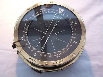 1930's VINTAGE WWII RAF COMPASS TYPE P4A HEAVY BOMBER e.g. LANCASTER, WELLINGTON
