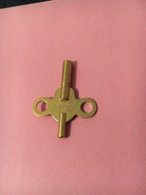 American /french Clocks Double End Brass Keys  No 4= 3.25 Small End 1.95Mm