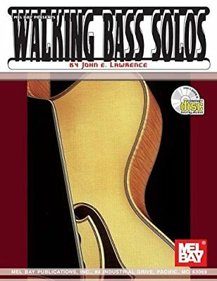 MEL BAY WALKING BASS SOLOS FOR GUITAR BOOK/CD SET By John E. Lawrence BRAND NEW