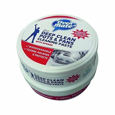 OVEN MATE DEEP CLEAN POTS AND PANS CLEANING PASTE WITH SPONGE 250g