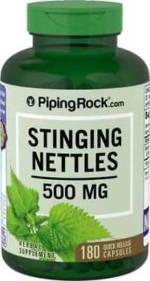 Stinging Nettles 500 mg x 180 Capsules PipingRock - 24HR DISPATCH