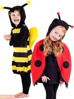 Toddler Bumble Bee Lady Bug Ladybird Girls Costume Book Day Insect Fancy Dress