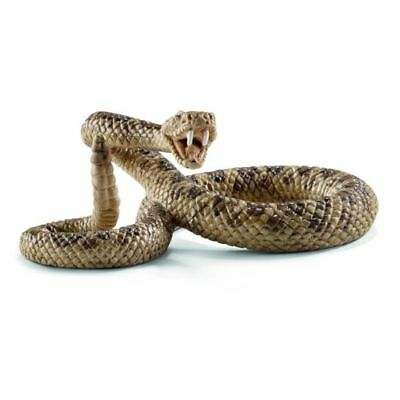 Small Fake Realistic Rubber Rattlesnake Snake Toy Props Scary Gag Halloween New