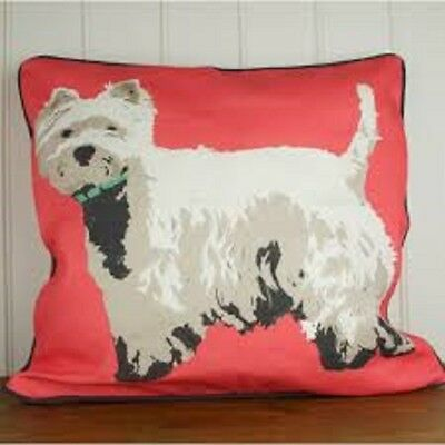 Westie Cushion By Designer Betty Boyns Beautiful Quality Double Sided