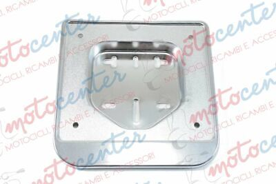 2690- Support Plaque D'immatriculation Plastique Chrome Scooter 50
