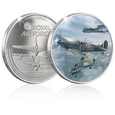 The RAF Collection Silver Coin / Medal - Spitfire - Battle of Britain