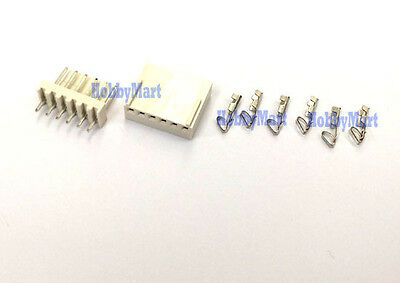 2510 2.54mm 6-Pin Male Header Female Connector PCB Socket and crimps x 10 sets