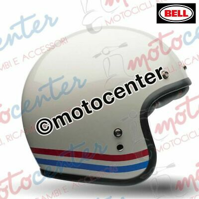 687dc27dee3947 4825- CASQUE BELL CUSTOM 500 BANDES PEARL BLANC TAILLE L (59-60 Cm