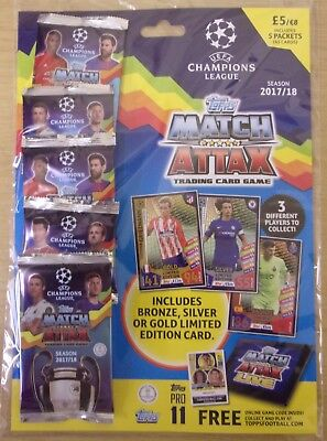 Topps ~ 2017/2018 Uefa Champions League Match Attax ~ Multipack Inc Limited Ed