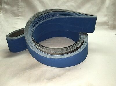 "2""x72"" Sanding Belts NEW CERAMIC 220 Grit Premium  ""J"" Flex (5pcs)"