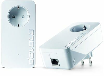 Devolo dLAN 1200+ 1200 Mbit/s 2xPowerline Adapter- Starter Kit SEHR GUT