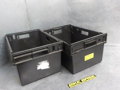 1 X Heavy Duty Plastic Storage Boxes Crates Containers Stackable 600X400X290Mm