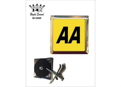Royale Stainless Car Grill Badge - Aa The Automobile Association - B3.0069